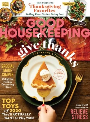 cover of Good Housekeeping magazine Thanksgiving 2020 issue for Hearst Women's Travel Group