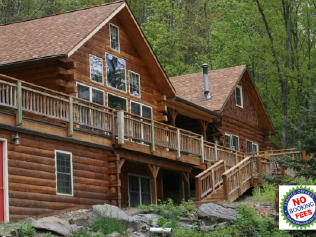 Keuka Lake, Finger Lakes Luxurious Log Cabin