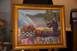 Cindy Harris Original Oil - New York State of Travel