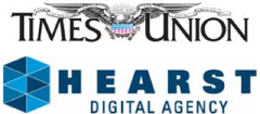 Hearst Digital Agency and Albany Times Union logos